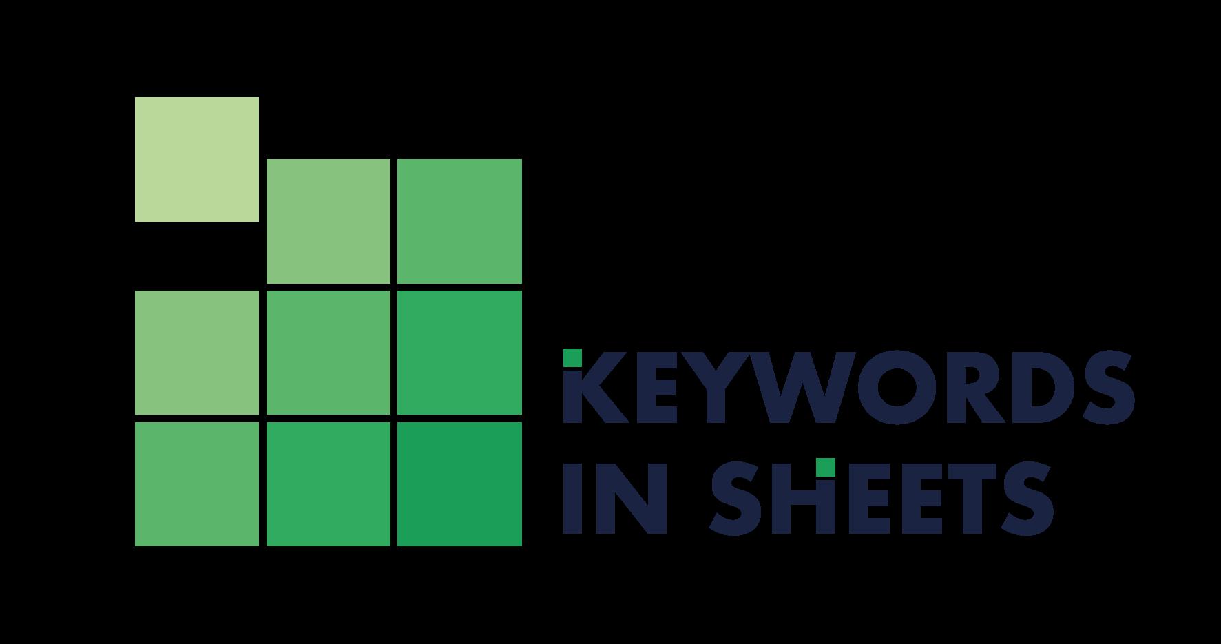 Keywords in Sheets